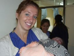 Amy at Tigoni Hospital - Maternity Volunteer