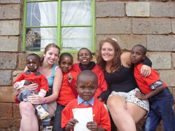 Amy & Flora - Kenya Volunteers at an Orphanage