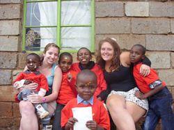Amy & Flora - Kenya Volunteers at an Orphanage