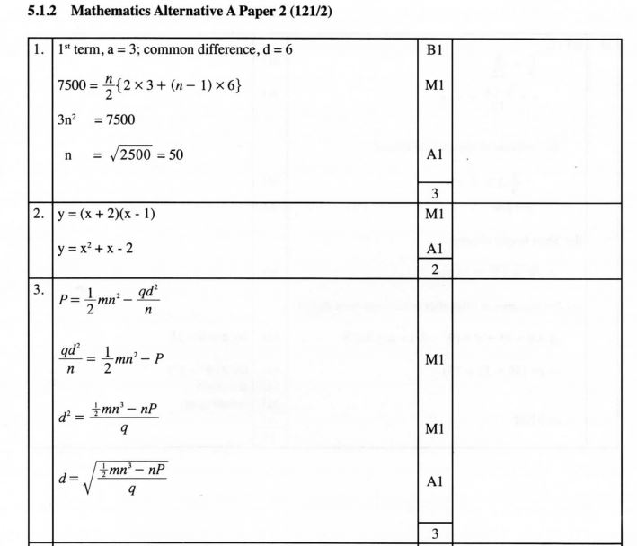 Kcse Mathematics Mock Booklet 2019