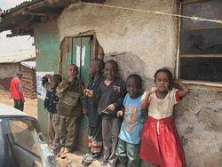 African children: Children in Kibera slum Nairobi.