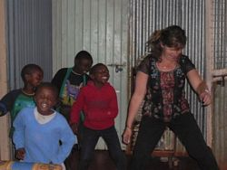 Photo by Tracey volunteering at Dream Project Orphanage