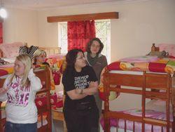 Volunteers in the boys room