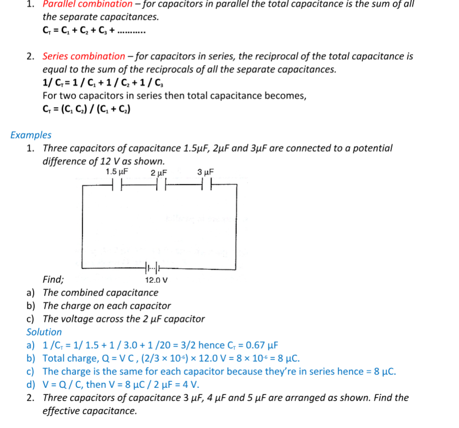 Physics Notes Form 3 - Free Download - KCSE Revision Notes PDF