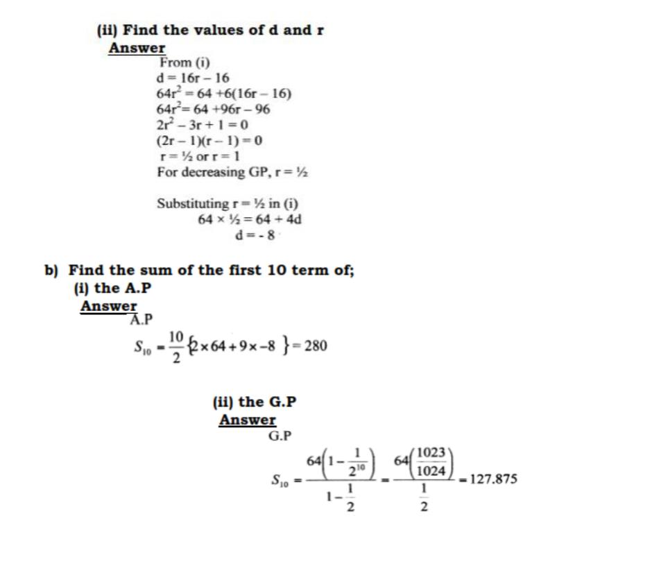 KCSE Past Papers 2016 Mathematics Alt A 2 - KNEC KCSE Online
