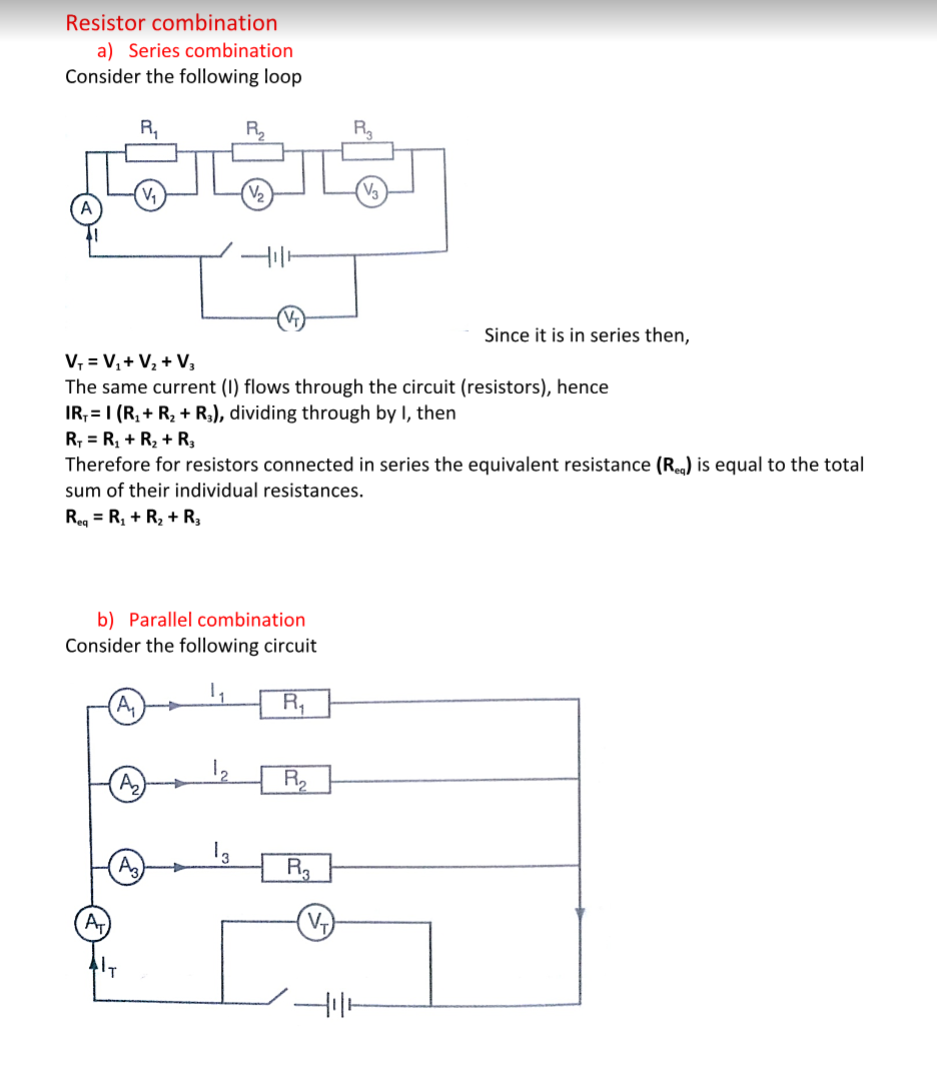Physics Notes Form 3 Free Download Kcse Revision Pdf Find The Equivalent Resistance Of Following Circuit Consider Loop