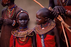 Maasai Girls in a Masai Village