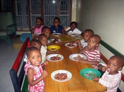 cheap volunteer with children