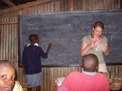 Volunteer Teaching in Kenya - Tara in Kawangware School