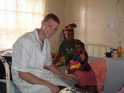 Hospital volunteering in Africa - A Medical volunteer at Wema photo