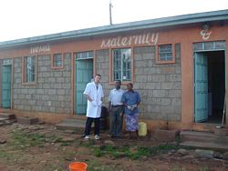 Medical volunteer in Africa - A hospital volunteer at Wema photo