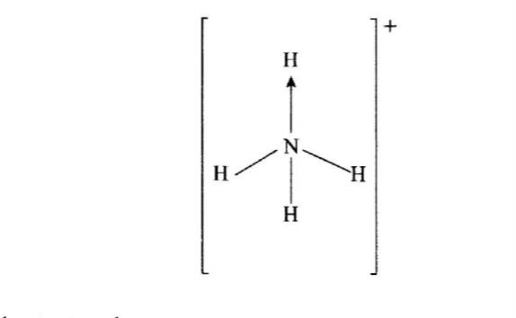 KCSE Ammonium Ion Structure 2016