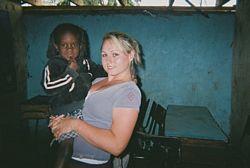Volunteer in Kibera Picture - Carley in Kibera