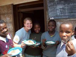 Volunteer Teaching Kenya - A volunteer at Kawangware School
